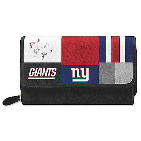 For The Love Of The Game NFL New York Giants Patchwork Wallet