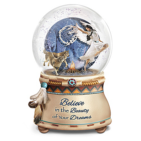 Mystical Dreams Handcrafted Native American Style Glitter Globe