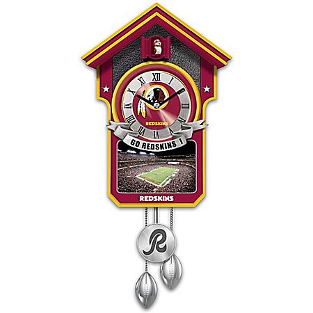 Washington Redskins NFL Cuckoo Clock With Game Day Image