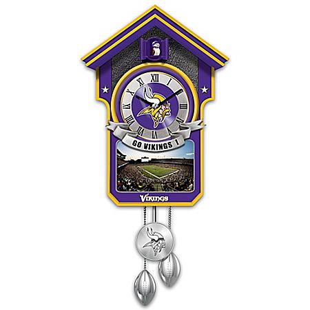 Minnesota Vikings NFL Cuckoo Clock With Game Day Image