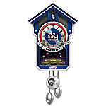 New York Giants NFL Cuckoo Clock With Game Day Image