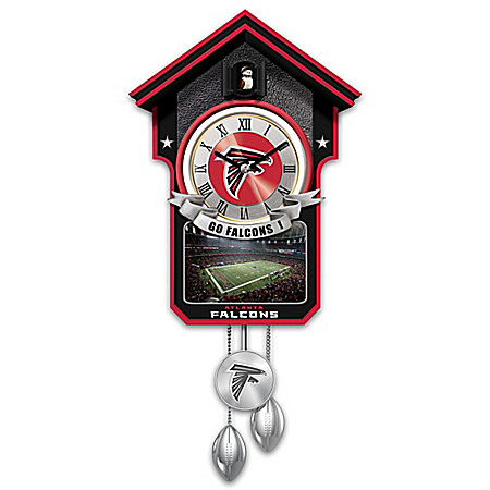 Atlanta Falcons NFL Cuckoo Clock With Game Day Image