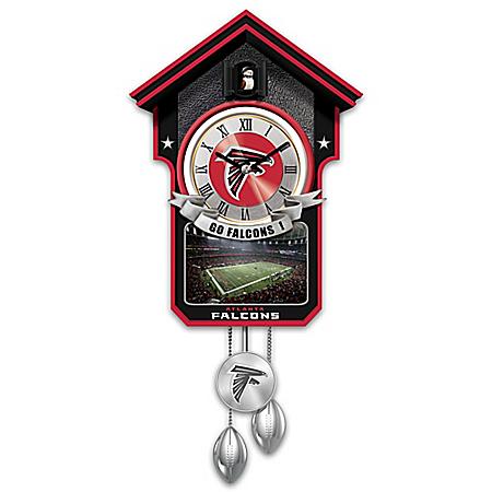 Atlanta Falcons NFL Cuckoo Clock With Game Day Image