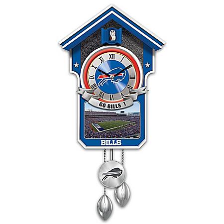 Buffalo Bills NFL Cuckoo Clock With Game Day Image