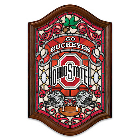 Ohio State University Illuminated Stained Glass Wall Decor