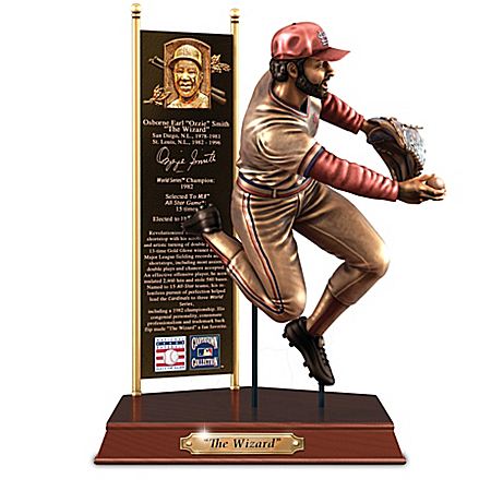 OZZIE SMITH Cooperstown Collection Cold-Cast Bronze Tribute Sculpture