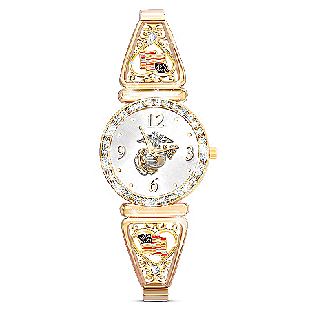 Marine Corps Pride Women's Stretch Band Watch