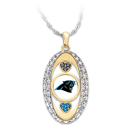 For The Love Of The Game NFL Carolina Panthers Women's Necklace