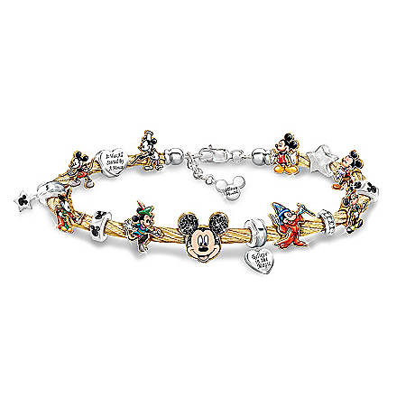 Disney Mickey Mouse's Greatest Moments Women's Cable Charm Bracelet