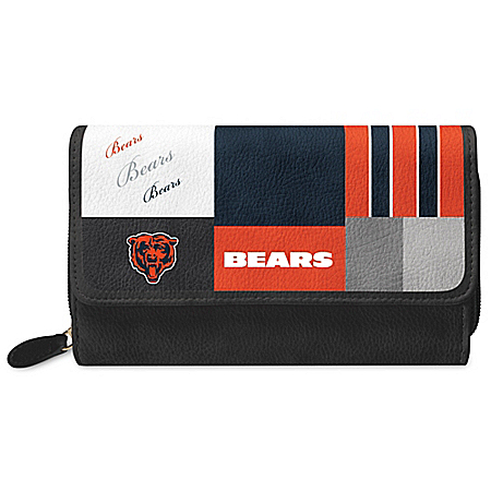 For The Love Of The Game NFL Chicago Bears Patchwork Wallet