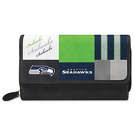 For The Love Of The Game NFL Seattle Seahawks Patchwork Wallet