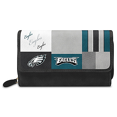 For The Love Of The Game NFL Philadelphia Eagles Patchwork Wallet
