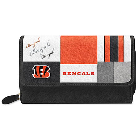 For The Love Of The Game NFL Cincinnati Bengals Patchwork Wallet