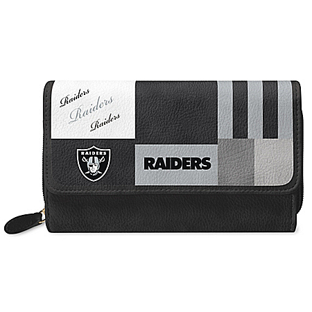 For The Love Of The Game NFL Oakland Raiders Patchwork Wallet