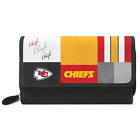 For The Love Of The Game NFL Kansas City Chiefs Patchwork Wallet