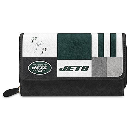 For The Love Of The Game NFL New York Jets Patchwork Wallet