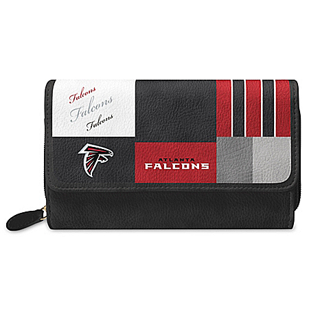 For The Love Of The Game NFL Atlanta Falcons Patchwork Wallet