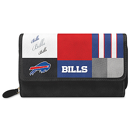 For The Love Of The Game NFL Buffalo Bills Patchwork Wallet