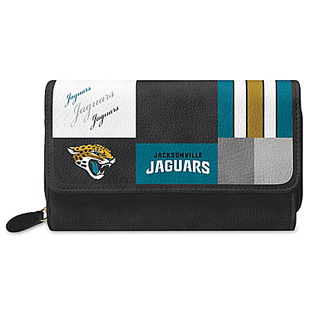 For The Love Of The Game NFL Jacksonville Jaguars Patchwork Wallet