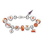 Go Tigers! #1 Fan Charm Sterling Silver-Plated Bracelet