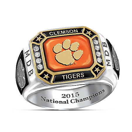 Clemson Tigers Football 2015 National Champions Personalized Ring