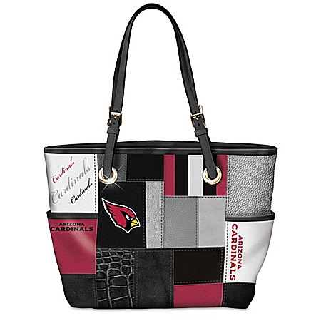 For The Love Of The Game NFL Arizona Cardinals Patchwork Tote Bag