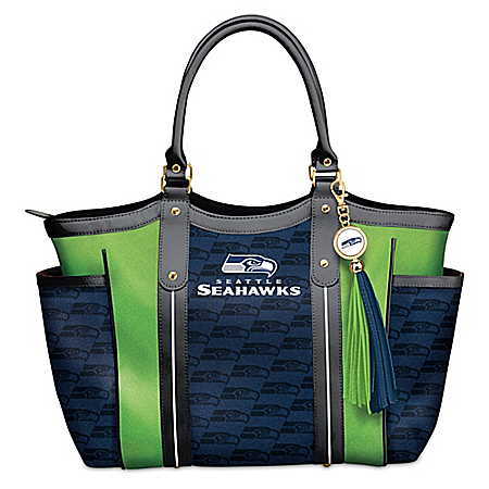 Touchdown Seattle Seahawks! NFL Shoulder Tote Bag