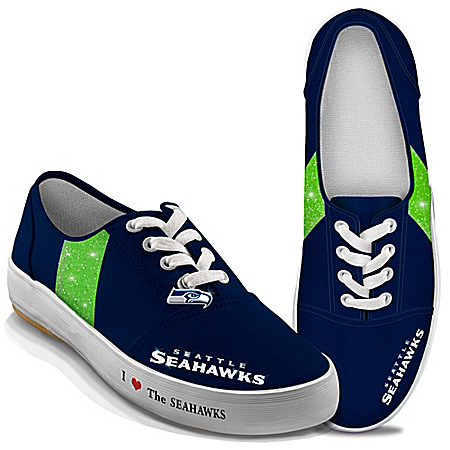 Women's Shoes: I Love The Seahawks Women's Canvas Shoes