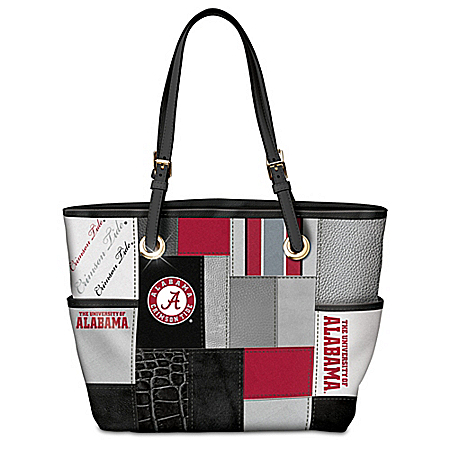 Alabama Crimson Tide Patchwork Tote Bag