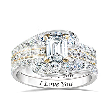 Love's Devotion Diamonesk Stacking Ring