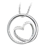 Forever In My Heart Diamond Sterling Silver Pendant Necklace