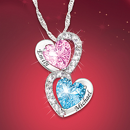 Every Beat Of My Heart Personalized Birthstone Heart Pendant Necklace – Personalized Jewelry