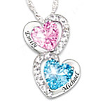 Every Beat Of My Heart Personalized Birthstone Heart Pendant Necklace