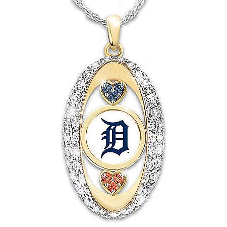 For The Love Of The Game Detroit Tigers Pendant Necklace