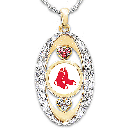 For The Love Of The Game Boston Red Sox Pendant Necklace