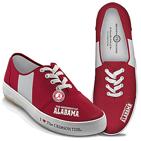 I Love The Alabama Crimson Tide Women's Canvas Shoes