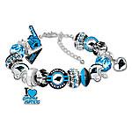 Fashionable Fan Carolina Panthers NFL Charm Bracelet