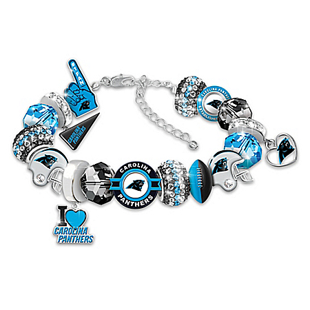 Fashionable Fan NFL Carolina Panthers Women's Charm Bracelet
