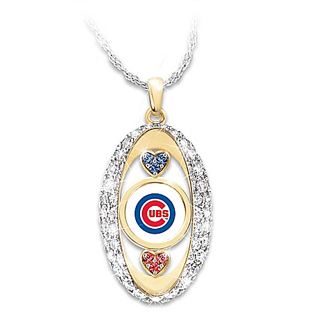 For The Love Of The Game Chicago Cubs Pendant Necklace