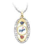 For The Love Of The Game Los Angeles Dodgers Pendant Necklace