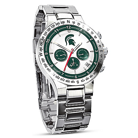 The Bradford Exchange Online - Michigan State Spartans Men's Collector's Watch Photo