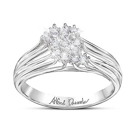Manhattan Women's White Topaz Ring