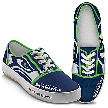I Love The Seattle Seahawks Women's Canvas Shoes