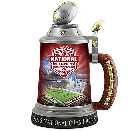 Alabama Crimson Tide Football 2015 National Champions Collectible Stein