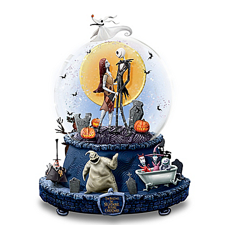 Disney The Nightmare Before Christmas Musical Glitter Globe
