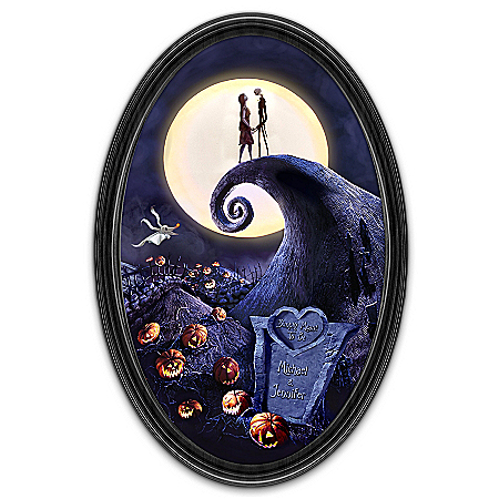 The Nightmare Before Christmas Simply Meant To Be Personalized Collector Plate