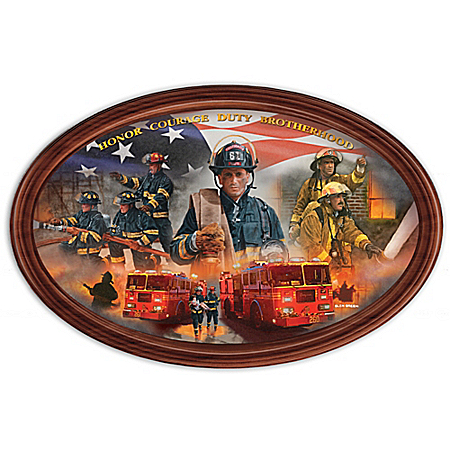 Courage Under Fire Inspirational Collector Plate