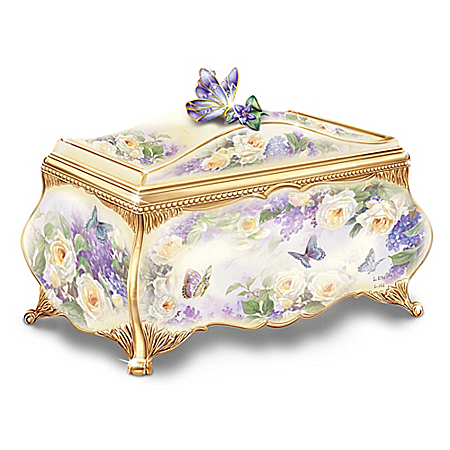 Beautiful Treasures From Lena Liu Heirloom Porcelain Music Box