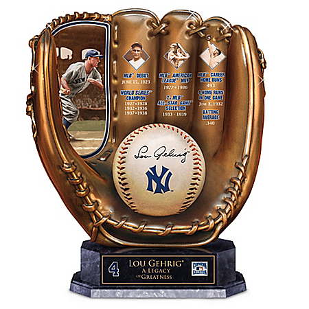 Lou Gehrig: A Legacy Of Greatness New York Yankees Glove Sculpture