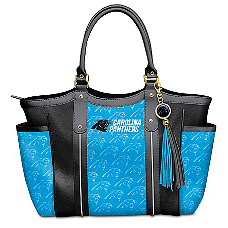Touchdown Carolina Panthers! NFL Shoulder Tote Bag